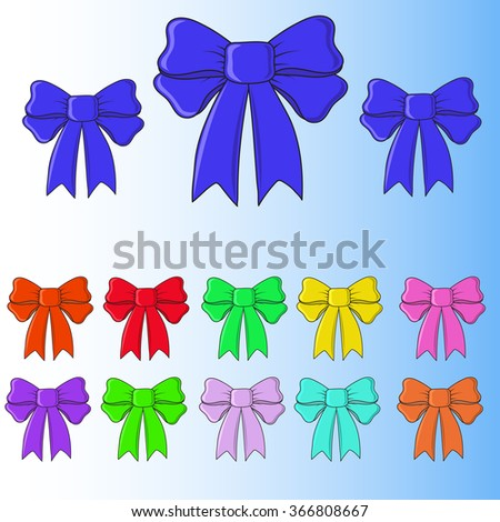 Greeting card with bow vector in EPS