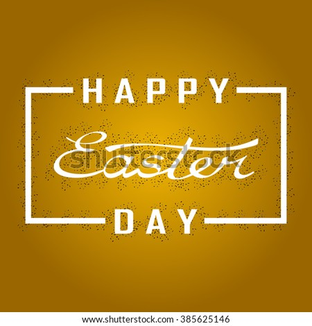 Greeting card day easter text words stock vector 385625146 greeting card with day of easter text and words happy easter in white frame m4hsunfo