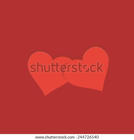 Greeting card with heart for Valentine's Day.