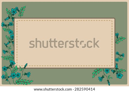 greeting card with herb