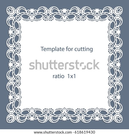 Elegant Cutout Paper Frame Lace Border Vector 446801206 – Border Paper Template