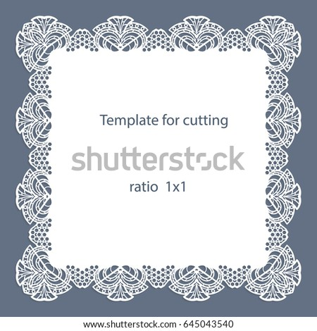 Greeting Card Openwork Border Paper Doily Vector 623248469 – Border Paper Template