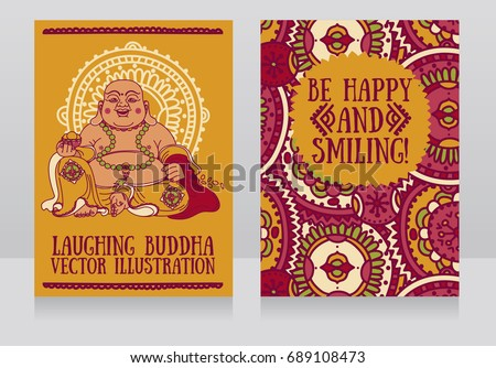 Greeting cards laughing buddha traditional asian stock photo photo greeting cards with laughing buddha traditional asian feng shui talisman hotei or budai for happiness m4hsunfo