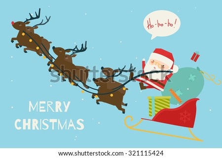 Greeting Christmas and New Year card. Vector - stock vector