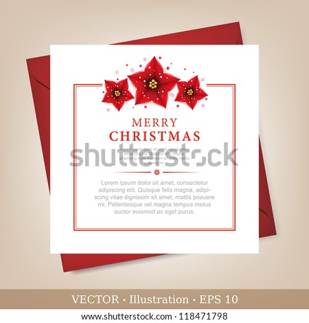 Greeting Christmas and New Year card.  Vector Illustration. - stock vector
