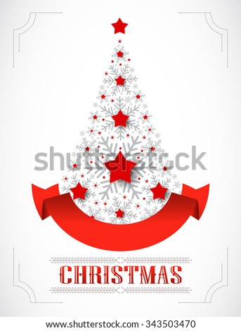 Greeting christmas card. Vector illustration - stock vector