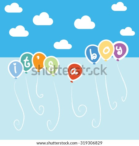 Greeting new baby born draw eps 10 stock vector 319306829 shutterstock greeting for new baby born draw in eps10 m4hsunfo