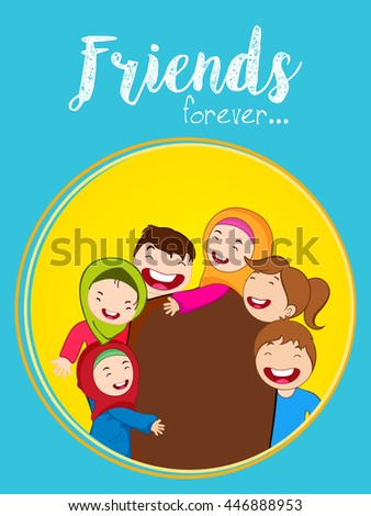 Greeting Poster Flyer Design Happy Friendship Stock Vector ... Friends With Kids Poster