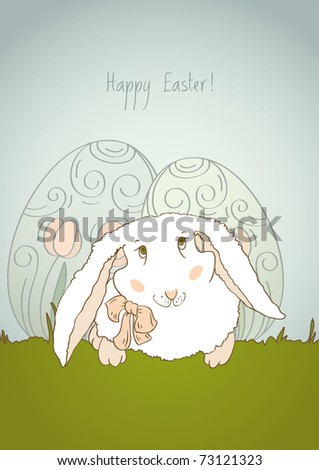 Greeting retro card for congratulations on the occasion of Easter