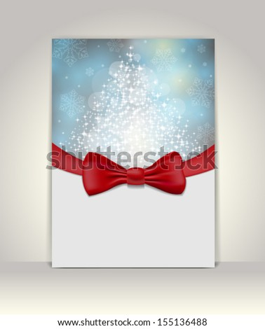 Greeting template, Merry Christmas and Happy New Year - stock vector