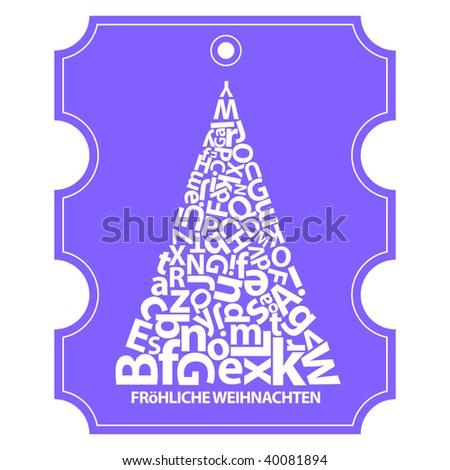 Greetings card christmas holiday german language stock vector greetings card for christmas holiday in german language m4hsunfo