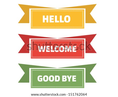 Greetings Flags - stock vector