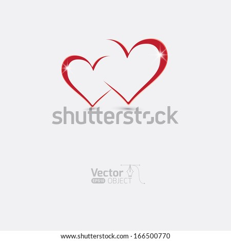 Greetings, greetings with love - stock vector