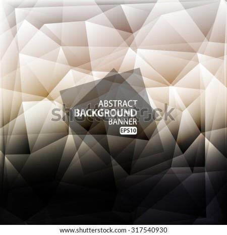 Grey and black Light polygonal mosaic background Vector EPS 10 illustration. - stock vector