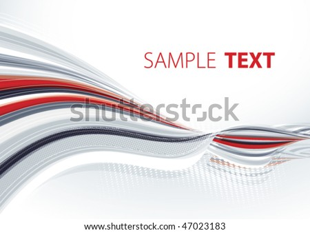 Grey and red template. Vector - stock vector