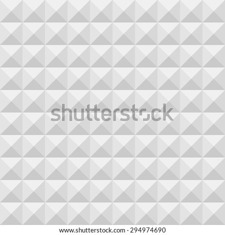 Grey and white geometric texture. Vector seamless background. - stock vector