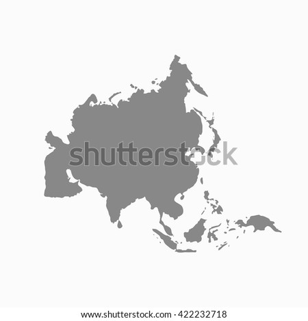 Grey Asia map. Similar Asia map. Asia map blank. Asia map vector. Asia map flat. Asia map clean. Asia map art. Asia map infographic. Asia map jpg. Asia map eps10. - stock vector