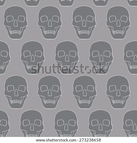 grey background with skulls