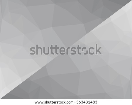 Grey black abstract low-poly, polygonal triangular mosaic background for web, presentations and prints. Vector illustration. Realistic 3D design template.