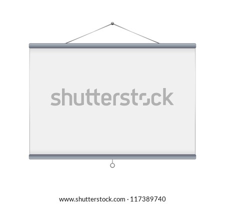 Grey blank projector screen Vector - stock vector