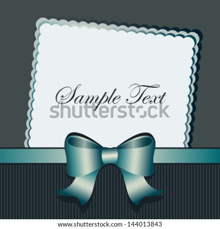 grey-blue bow card