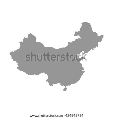 Grey China map. Similar China map. China map blank. China map vector. China map flat. China map clean. China map art. China map infographic. China map jpg. China map eps10. - stock vector