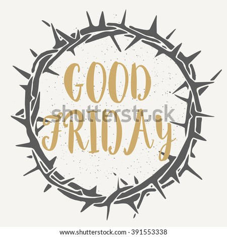 grey crown of thorns good friday on white grey background - stock vector