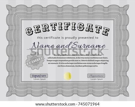 blackandwhite graphics certificate diploma form basis stock vector  grey diploma vector illustration background money design