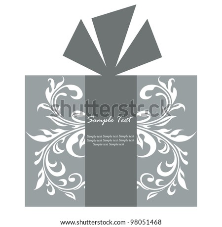 Grey gift box card