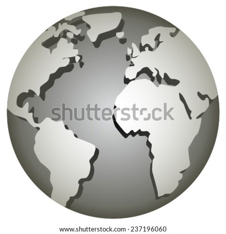 grey globe - stock vector