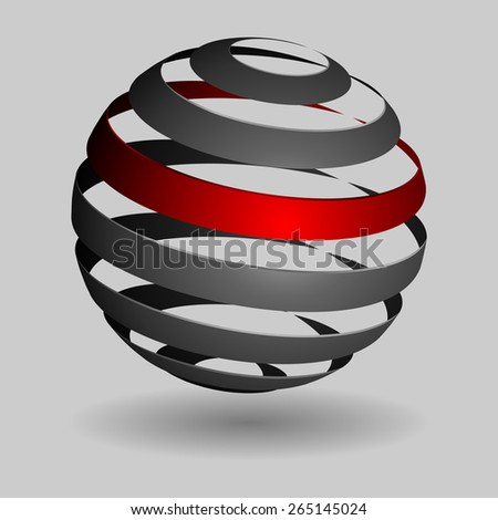 Grey glossy spheres isolated. Vector illustration for your design.. - stock vector