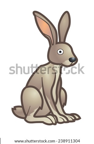 Grey hare illustration