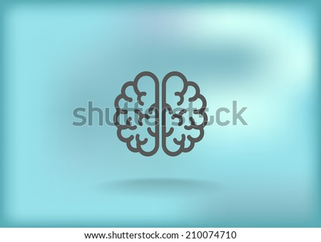 Grey icon on blurred background - stock vector