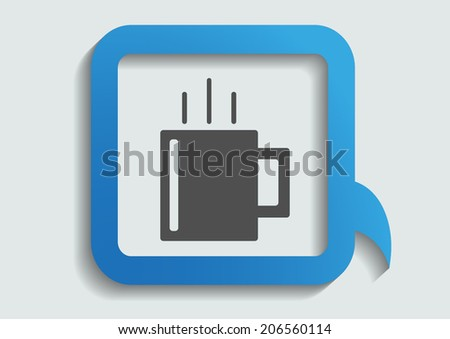 Grey icon on white background. vector illustration