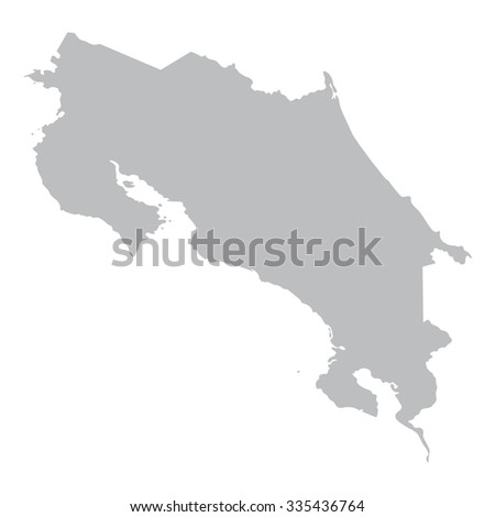 grey map of Costa Rica