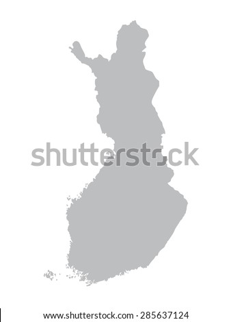 grey map of Finland