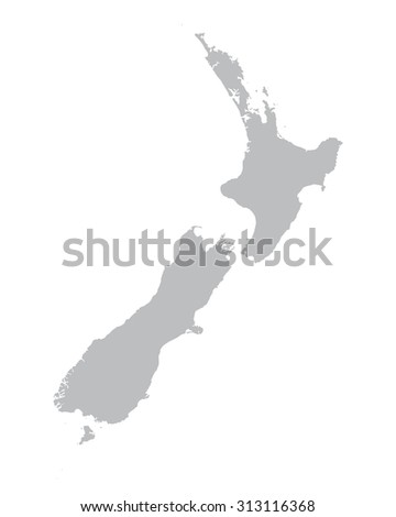 grey map of New Zealand