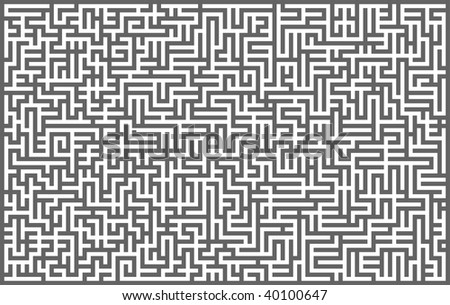 Grey maze background. Vector illustration.