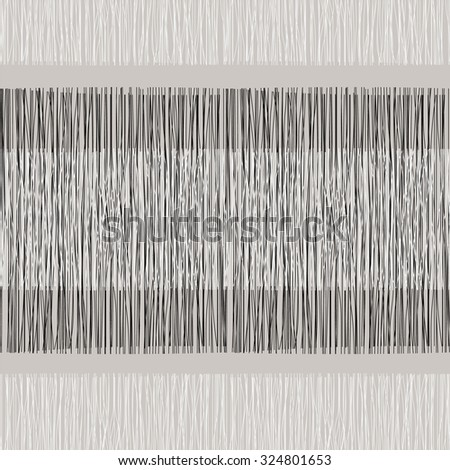 Grey or beige fabric with stripes, burlap, quilting, imitation natural fibers hand art work