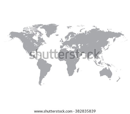 Grey political world map white background vectores en stock grey political world map white background gumiabroncs Choice Image