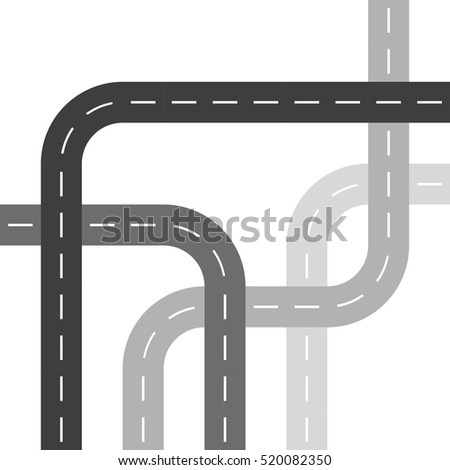 Grey Roads or Streets in Threaded Weave Pattern