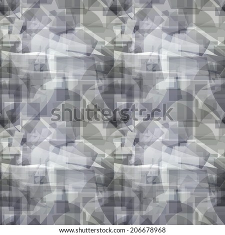 Grey seamless geometric abstract pattern  - stock vector