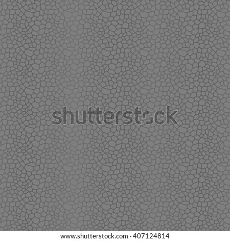 Grey seamless vector leather texture background pattern - stock vector