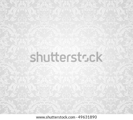 Grey seamless wallpaper pattern, vector - stock vector
