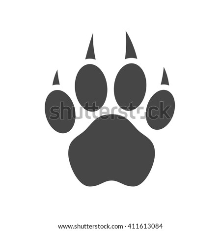 how to draw a tiger paw print