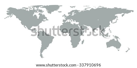Grey silhouette world map color silhouette stock vector 337910696 grey silhouette world map color silhouette world map continents minimal flat style contour gumiabroncs Choice Image