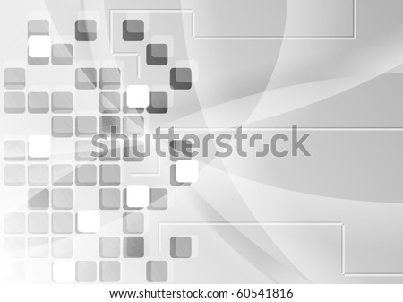 Grey tech background with squares - eps 10 - stock vector