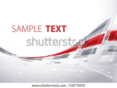 Grey techno template. Vector - stock vector