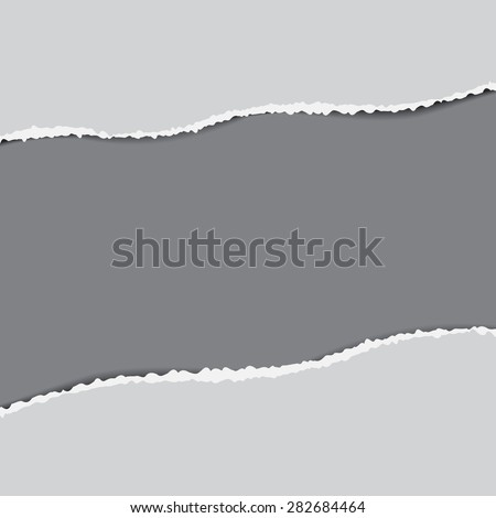 Grey torn paper background