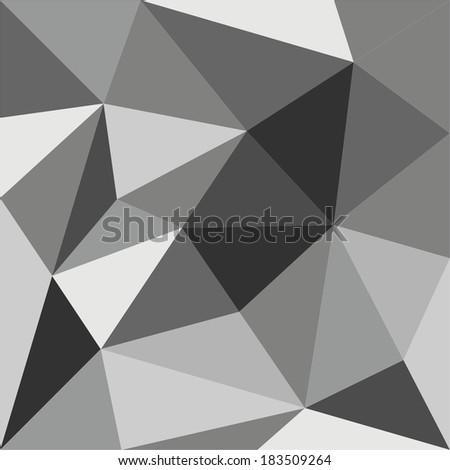 Grey triangle vector background or seamless pattern. Flat black and grey surface wrapping geometric mosaic for wallpaper or halloween website design